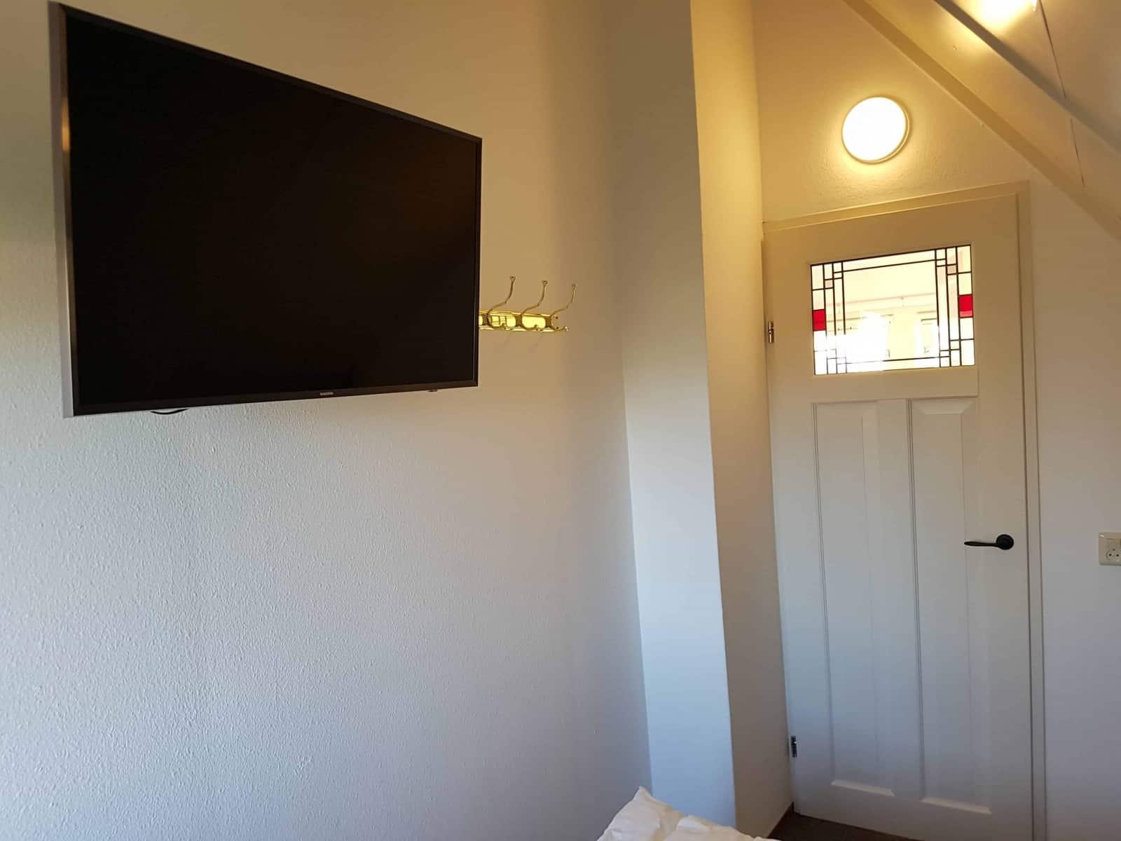 Der UHD-Fernseher im zweiten Schlafzimmer