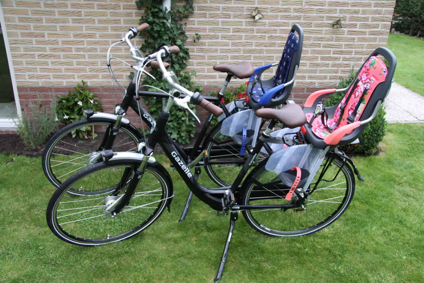 2 Gazelle-Räder mit Kindersitzen